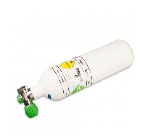 2 litre Oxygen Cylinder + M26 (EU) Rebreather Valve