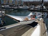 Combo mit Fockmanschette auf der Yacht