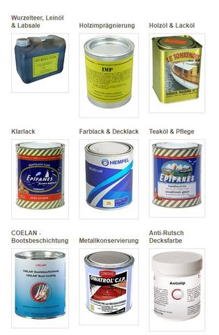 Farben, Lacke, Öl & Holzteer
