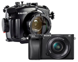 Sony A6400 with 16-50 + Fantasea housing + port + gear - front