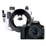 Canon EOS 250D + 18-55 STM + Ikelite housing + port