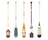 Wood Decorate Canoe Paddle