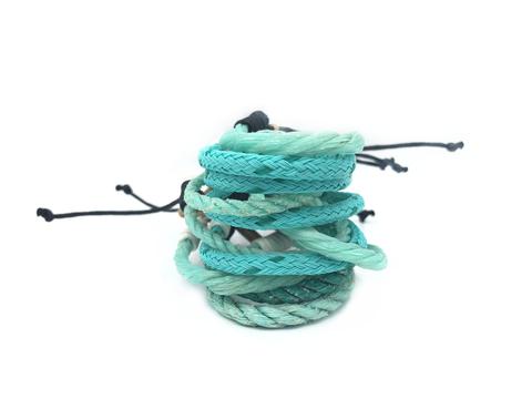 Recycling Armband Türkis