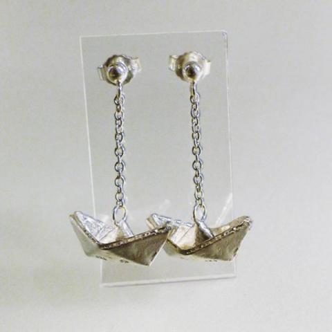 Faltschiffchen Ohrhänger