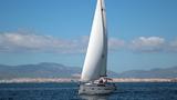 Segeln in der Bucht von Palma de Mallorca